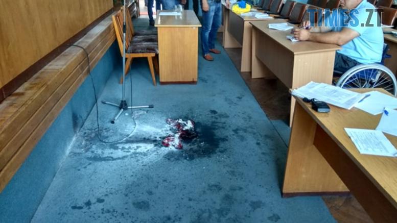 Screenshot 17 1 777x437 - У Бердичеві підприємець підпалив себе у приміщенні міськради (ВІДЕО,ФОТО)