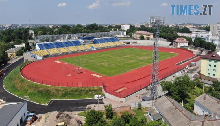 """Screenshot 37 2 761x437 - Реконструкція стадіону """"Полісся"""" в Житомирі триває: монтують ворота, облаштовують сходи та бордюри"""