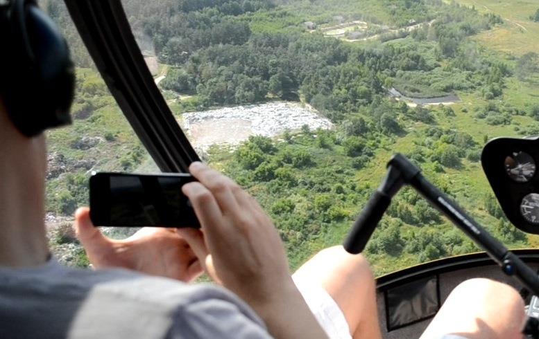 01 9 - «Мертві води»: Олег Грамотенко побачив з гелікоптера, що тече у Кам'янку і Тетерів (ВІДЕО)