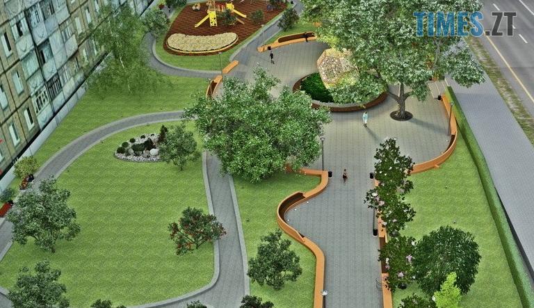 Screenshot 10 1 - У Житомирі на Покровській створюють «Європейський сквер» за 1,4 млн грн (ФОТО)
