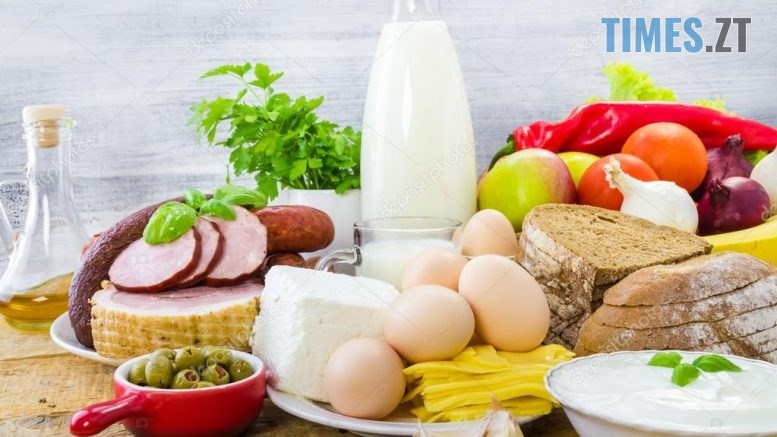 depositphotos 53381623 stock photo composition grocery products dairy vegetables 777x437 - Житомирщина: експерти розповіли, у яких продуктах найбільша кількість радіонуклідів
