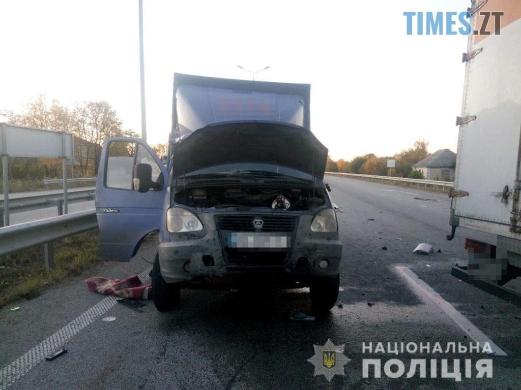 yzobrazhenye viber 2019 10 03 10 36 25  1024x768 - На Житомирщині зіштовхнулися дві вантажівки, один з водіїв травмований (ФОТО)