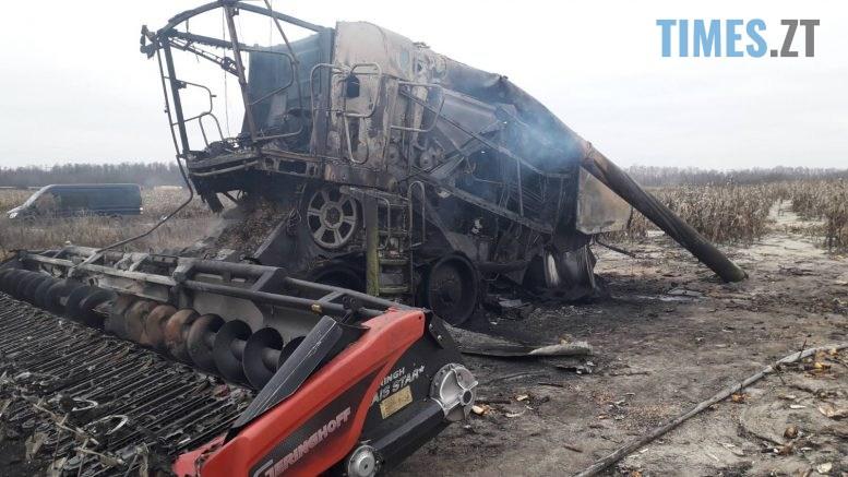 01 2 777x437 - На Житомирщині під час роботи на полі вибухнув комбайн, водій потрапив до лікарні (ФОТО)