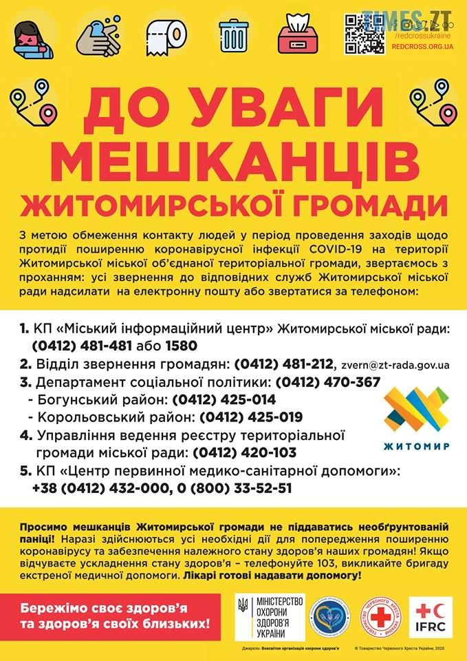 89861050 1060378361008735 191291104560152576 n - До уваги мешканців Житомирської громади