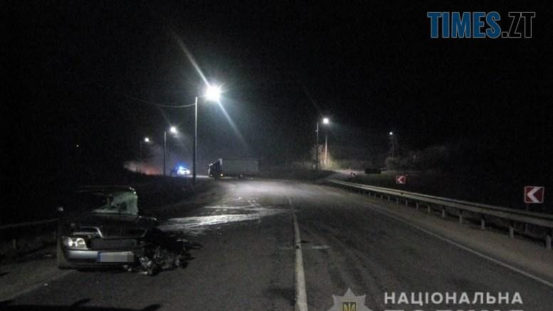 """IMG 6857 777x437 - Нетвереза аварія на Житомирщині: Audi """"поцілувалася"""" з вантажівкою (ФОТО)"""
