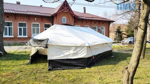 photo 2020 03 30 14 10 14 - На Житомирщині встановили тимчасові пункти для сортування хворих
