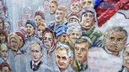 mozajika 260x146 - Рашизм пробив дно: у храмі РПЦ під Москвою викладають мозаїкою Путіна і Сталіна (ФОТО)