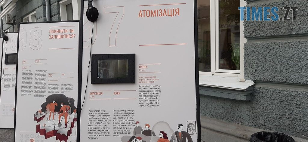 105624593 730266504183004 8655401239379973220 n 1024x472 - Життя цивільних за часів війни: в Житомирі проходить інтерактивна виставка «На зламі» (ФОТО)