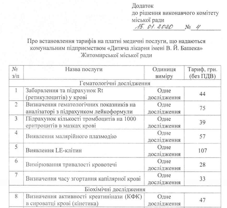 Screenshot 13 - «Безкоштовна медицина» не для всіх: скільки коштує консультація лікаря у комунальних медзакладах для житомирян