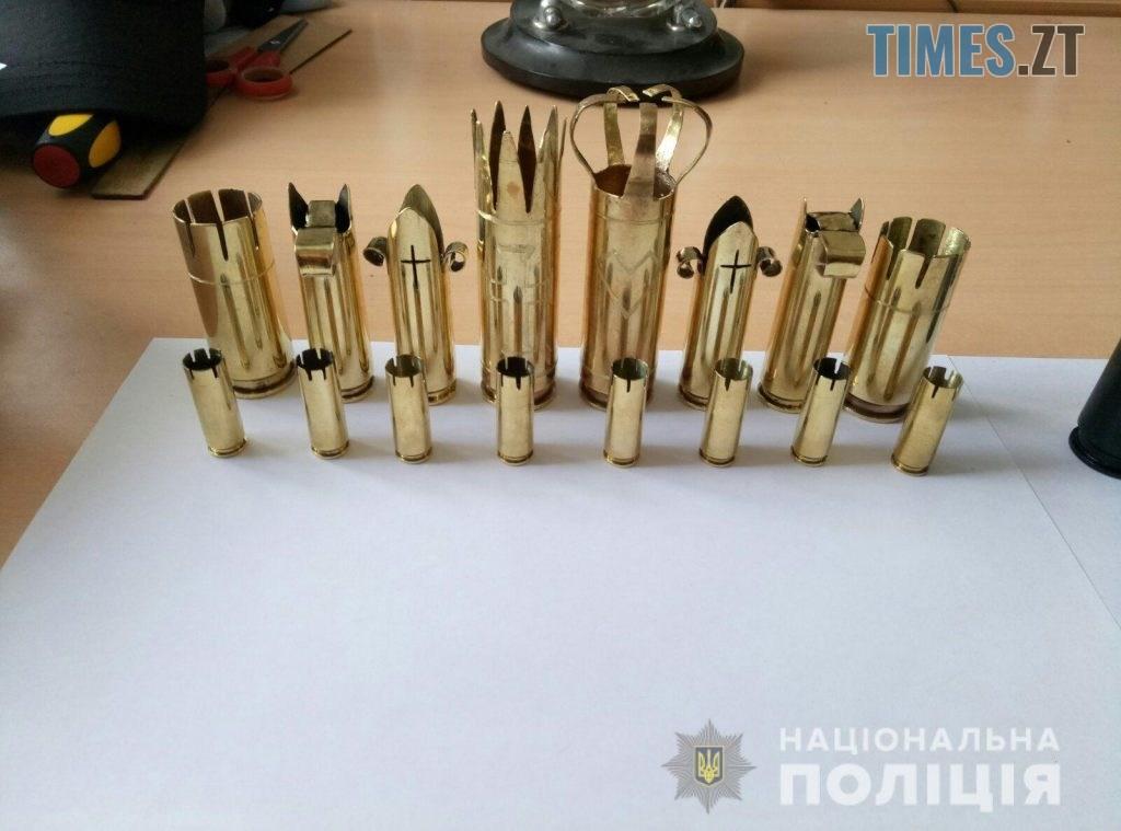 10 32 30 1024x759 - Танки, шахи, попільниці: Житомирський поліцейський виробляє сувеніри зі стріляних гільз та боєприпасів (ФОТО)