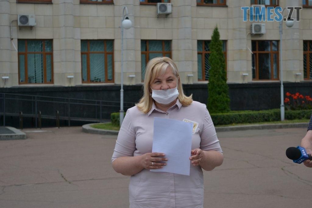 DSC 0300 1024x683 - Житомиряни мітингували під ОДА за навчання школярів у класах (ФОТО)
