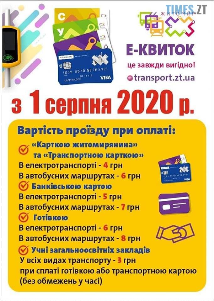 img1595494808 - З 1 серпня вартість проїзду зміниться: скільки платитимуть житомиряни у громадському транспорті