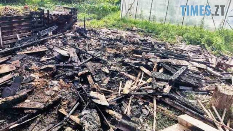 vriatovano budynok ta teplytsiu 777x437 - У райцентрі Житомирської області надзвичайники врятували приватну оселю від знищення вогнем