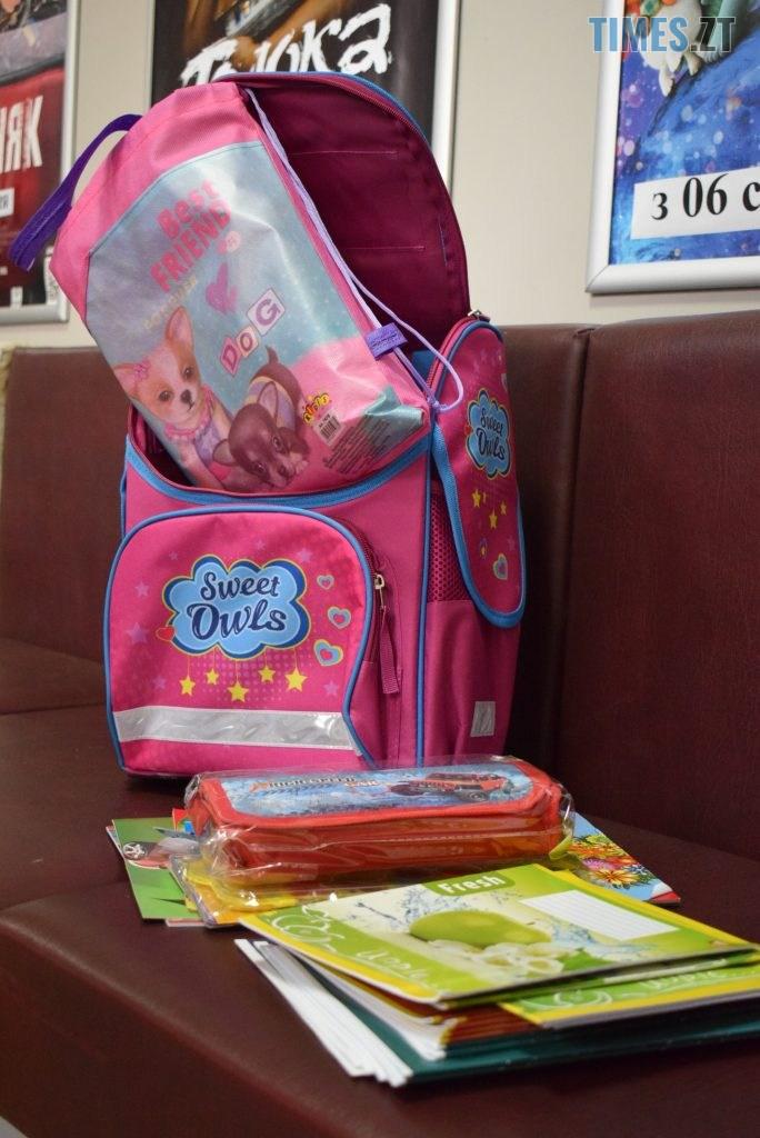 DSC 0196 684x1024 - У Житомирі в рамках акції «Першовересень» дітей-пільговиків зібрали до школи