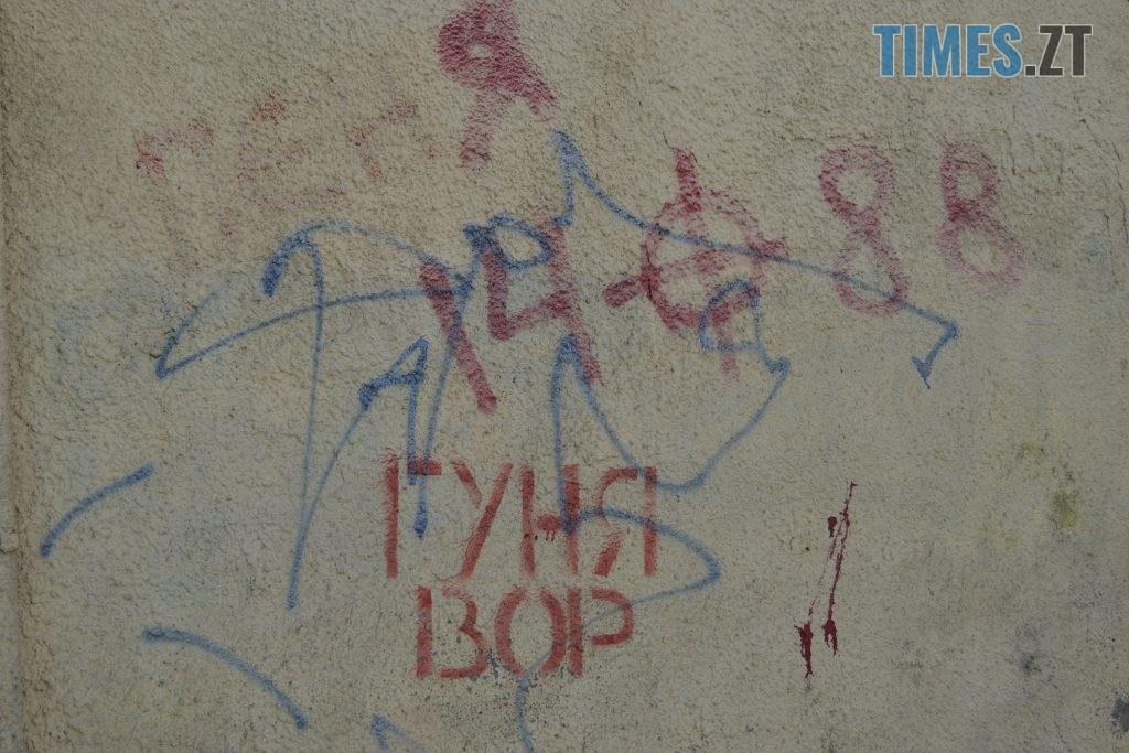 f2bcafb1 f5d3 4246 9901 1c0e4279f313 1024x683 - Хулігани малюють, поліція - бездіє: історія занедбаності житомирських фасадів та парканів