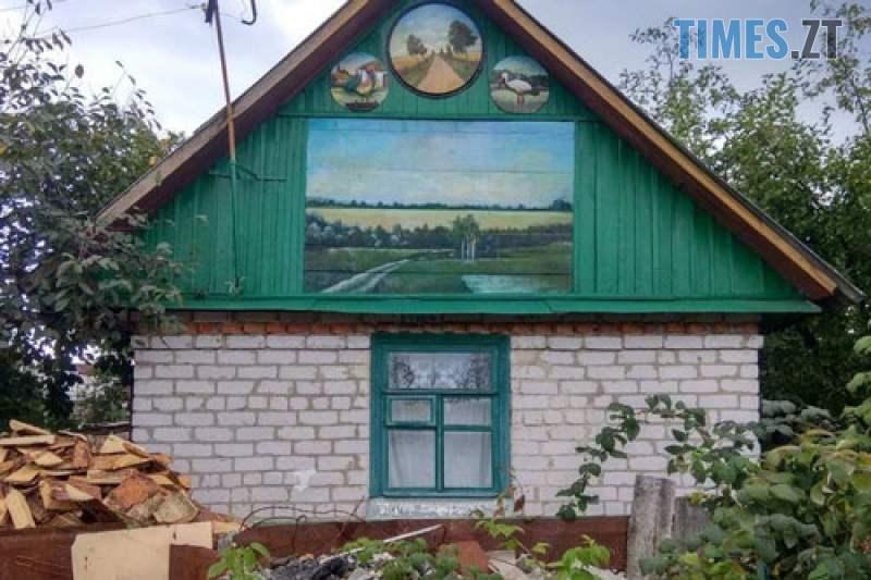 579fe42713869e4621d97854b9887ede L - У селі під Житомиром власник будинку перетворив його на  галерею просто неба (ФОТО)