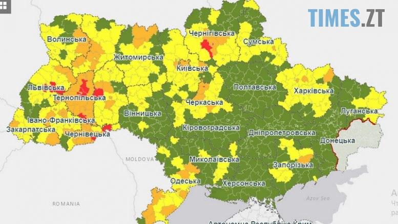 """5f64ed723347a original w859 h569 777x437 - Чотири міста та переважна більшість районів Житомирщини потрапили до """"жовтої зони"""""""