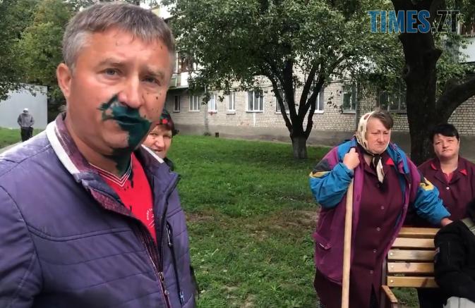 Screenshot 9 1 673x437 - У Житомирі депутата міськради облили зеленкою, один із нападників мав при собі пістолет (ВІДЕО)