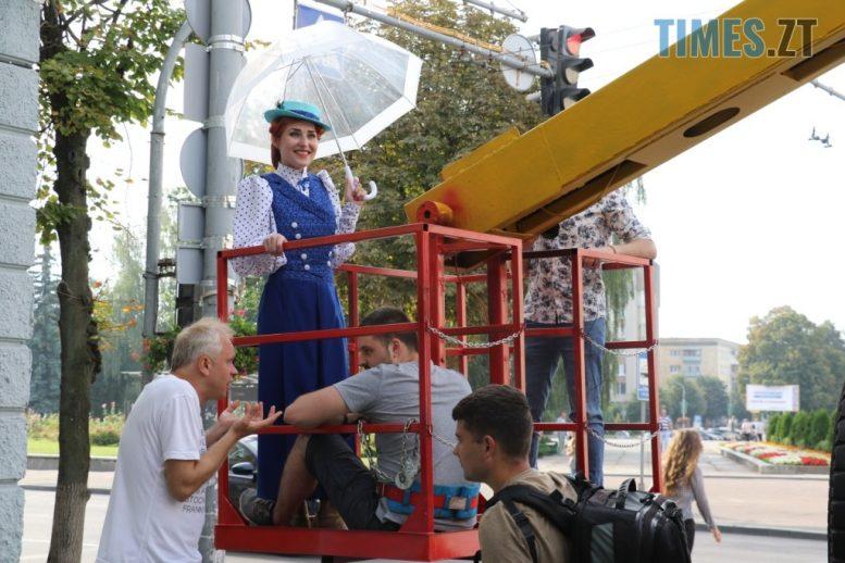 img1599049265 e1599054695992 - На Михайлівській проходили зйомки відеоролику «Мій Житомир — головна сцена мого життя» (ФОТО)