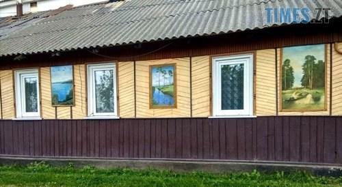 podviria2 - У селі під Житомиром власник будинку перетворив його на  галерею просто неба (ФОТО)
