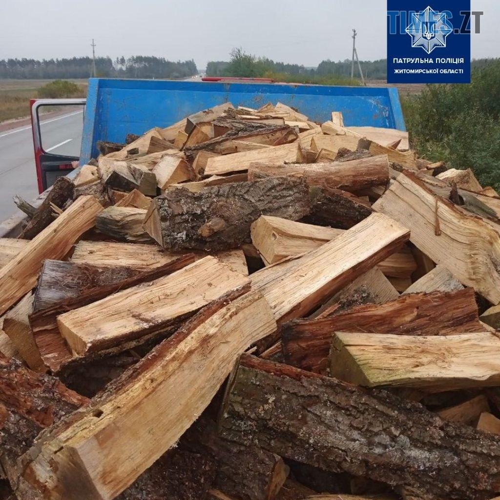"""120749578 1279131839089919 5780513651837145476 o 1024x1024 - На трасі під Житомиром виявили вантажівку із """"лівими"""" дровами (ФОТО)"""