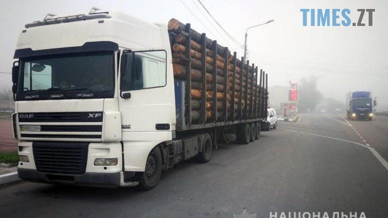 1528323 777x437 - Неподалік Житомира затримали вантажівку, вщент набиту сосновими колодами