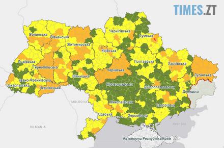 """3b608f3815b1fa97622107c7c9d687ad preview w440 h290 - Територіальний розподіл на Житомирщині - чотири міста та 12 районів потрапили до """"помаранчевої"""" зони"""