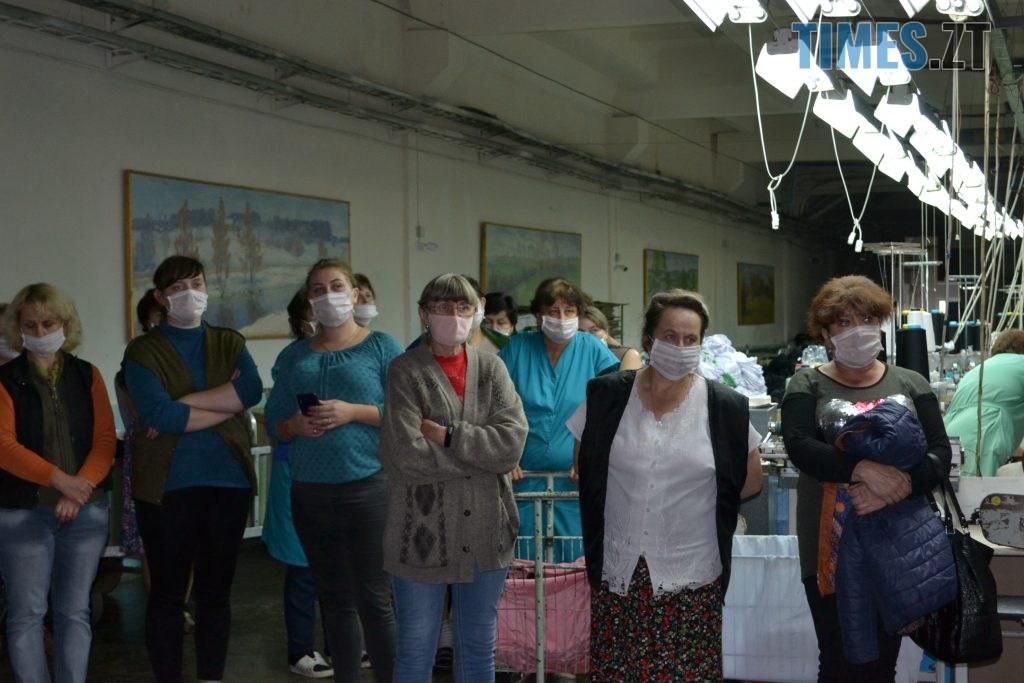 DSC 0937 1024x683 - Кандидат на міського голову Житомира Віктор Євдокимов зустрівся з працівниками панчішної фабрики