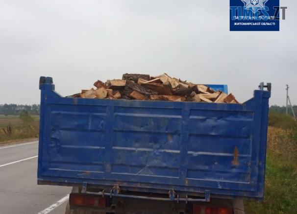 """Screenshot 3 2 606x437 - На трасі під Житомиром виявили вантажівку із """"лівими"""" дровами (ФОТО)"""