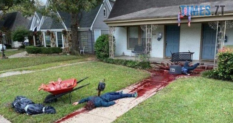 photo 2020 10 28 10 36 11 2 e1604055105976 - До американця приїхала поліція через моторошну інсталяцію до Хелловіну (ФОТО 18+)