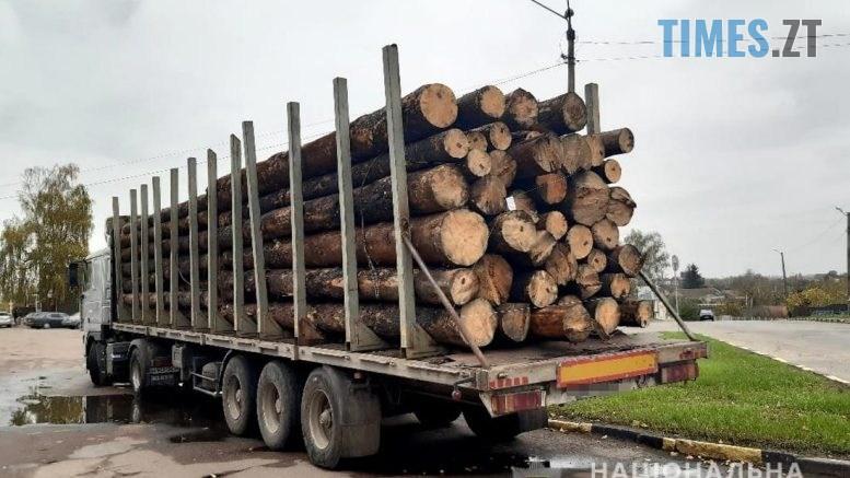 104816 777x437 - У Чуднові правоохоронці затримали вантажний автомобіль, ущент набитий сосновими колодами (ФОТО)