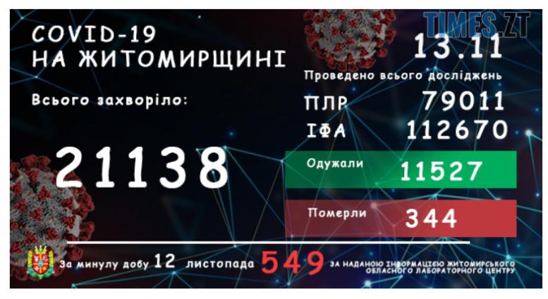 Screenshot 2 12 e1605258847628 - У Житомирській області зареєстровано вже 21138 підтверджених випадків коронавірусу, 549 з них - минулої доби