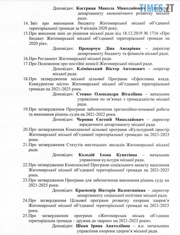 3 - Сергій Сухомлин скликає депутатів на другу сесію Житомирської міської ради