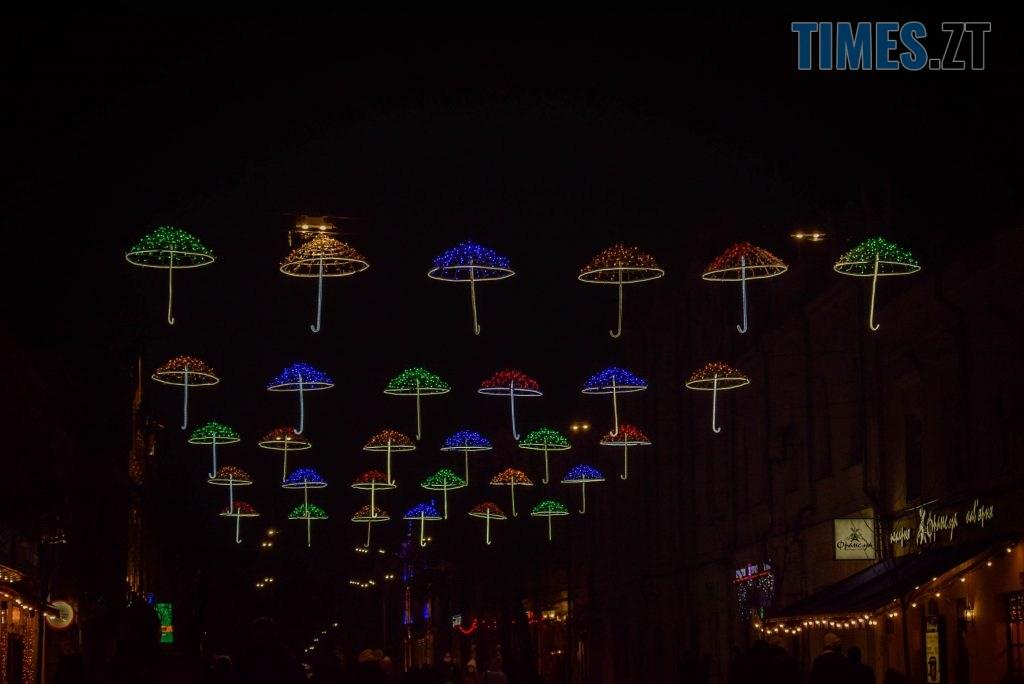 DSC 0359 1024x684 - Житомир засяяв новорічними парасолями за 192 тисячі грн (ФОТО)