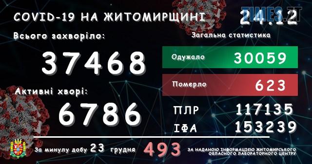 lab24122020 1 - На Житомирщині за останню добу виявили ще 493 інфікованих коронавірусом жителів