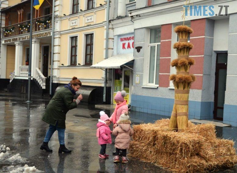 img1609928598 1 e1609935552511 - У Житомирі на Михайлівській встановили величезного Різдвяного Дідуха